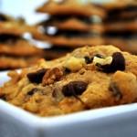 Chocolate Walnut Oatmeal Cookies
