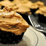 Chocolate Cupcakes with Peanut Butter Icing!