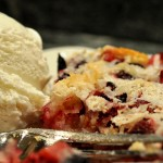 Lemon Cranberry Coconut Crumble