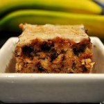Sour Cream Chocolate Oatmeal Walnut Banana Bars