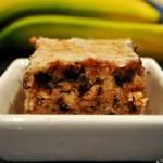 Sour Cream Chocolate Oatmeal Walnut Banana Bars