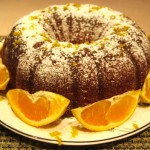 Mom's Olive Oil Orange Bundt Cake with Light Orange Glaze
