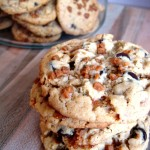 Peanut Butter Chocolate Oatmeal Skor Cookies