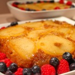 Upside-Down Caramelized Pear Cake