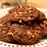 Mocha Almond Hazelnut Fudge Cookies