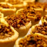 Mini Pumpkin Pies with Cinnamon Nut Topping