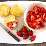 Mother's Day Lemon Scones with Strawberry Filling
